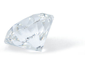 Diamonds are cut precisely to to advantage of the light properties.