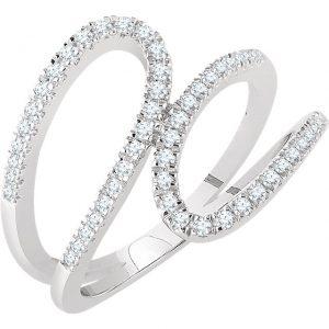 14 ct white gold diamond ring