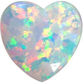 Heart shape opal